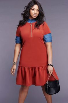 Front Zip Scuba Dress | Into the Groove Collection | Women's Plus Size Fashion | ELOQUII