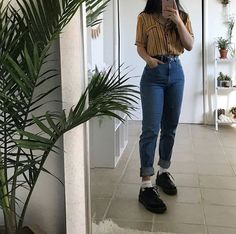 Retro Outfits, Mode Outfits, Grunge Outfits, Grunge Fashion, 80s Fashion, Jean Outfits, Korean Fashion, Street Fashion, Vintage Outfits
