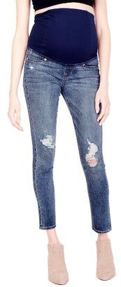 Shop Now - >  https://api.shopstyle.com/action/apiVisitRetailer?id=634684337&pid=uid6996-25233114-59 Women's Ingrid & Isabel Sasha Maternity Skinny Jeans With Crossover Panel(TM)  ...