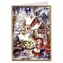 Snowy Cottage Christmas Card ~ Germany ~ New for 2012