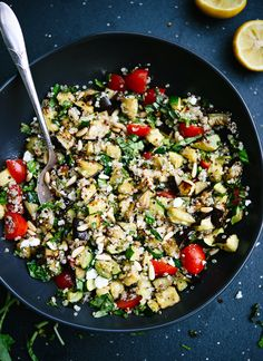 Mediterranean quinoa salad. Fresh, simple and delicious! cookieandkate.com