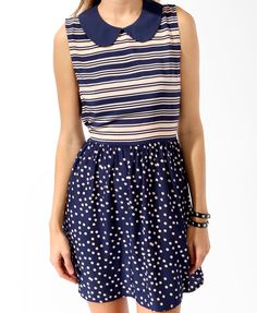 Stripes & Dots Dress | FOREVER21 - 2015540733
