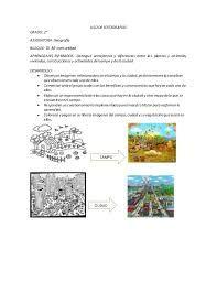 Resultado de imagen para campo y ciudad para primer grado
