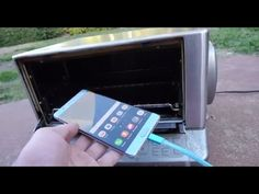 CAN SAMSUNG GALAXY NOTE 7 EXPLODE IN OVEN Galaxy Note 7, Oven, Samsung Galaxy, Canning, Phone, Creative, Kitchen Stove, Telephone, Ovens