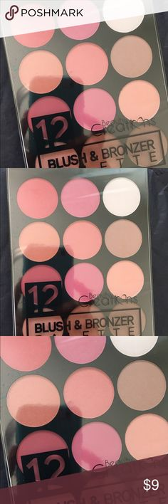 Blush & Bronzer Palette! New by beauty creations! 12 matte blush with bronzers! Nice palette. Beauty Creations Makeup Blush