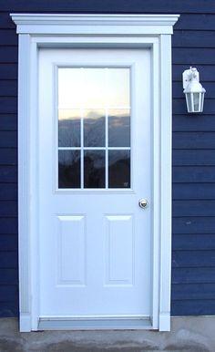 66 Ideas Replace Exterior Door Trim Window For 2019 Brown Front Doors, Wood Front Doors, Glass Front Door, Exterior Entry Doors, Exterior Trim, Exterior Design, Exterior Makeover, Door Makeover, Door Window Treatments