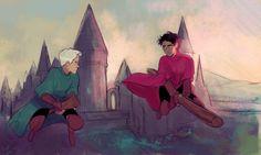 Draco vs. Harry by bevsi