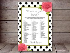Bridal What's in your Purse – Printabell • Create