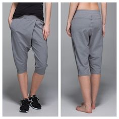 {lululemon} Grey Retreat Yogi Crop Brand new with tags, sold out. Color: heat heathered slate. ❗️Price is firm, even when bundled❗️  ❌ No Trades/ No PayPal  ❌ No Lowballing  ✅ Bundle Discounts ✅ Ship Same or Next Day  % Authentic lululemon athletica Pants