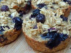 Banana blueberry oatmeal breakfast muffins by drizzle me skinny