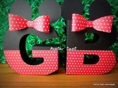 Letras 3d Decoradas Minnie