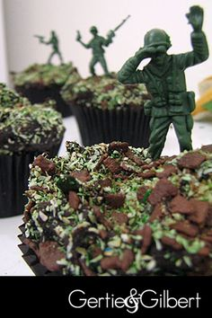 Soldier cupcakes!!!  I love it!