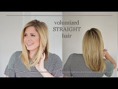 How to flat iron your hair with VOLUME! No flat hair here folks. - YouTube