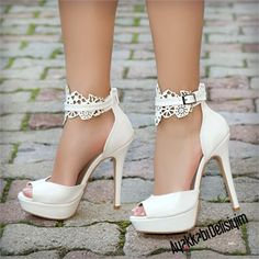 Canada White Platform Heels – Best Of Likes Share Platform Shoes Heels, Wedding Shoes Heels, Stiletto Shoes, Bride Shoes, High Shoes, High Heels Plateau, Me Too Shoes, Fashion Shoes, Shoe Boots