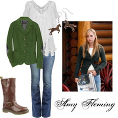 My Mom and I found this great show on Netflix called Heartland. Retro Outfits, New Outfits, Cute Outfits, Fall Outfits, Cowgirl Outfits, Western Outfits, Heartland Amy, Heartland Seasons, Cute Country Outfits