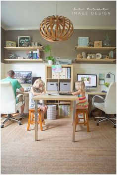 Inspiration Snapshot :: Chic Family Home Office