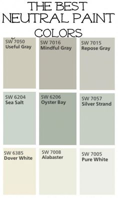 New Ideas Farmhouse Paint Colors Livingroom Mindful Gray Best Neutral Paint Colors, Interior Paint Colors, Paint Colors For Home, Paint Colours, Fixer Upper Paint Colors, Nursery Paint Colors, Bedroom Colors, Renovation Design, Home Renovation