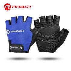Cycling Gloves Summer Bicycle Outdoor Sports Stort Finger Gloves Shock MTB Gloves Men Women Road Motocross Plus Size Black