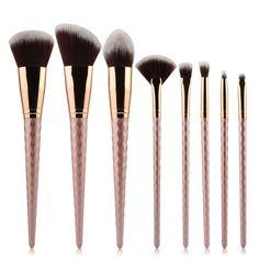 8pcs Pro Wave Shape Multipurpose Makeup Brushes Set Blusher Foundation Eyeshadow blender smooth brush beatuy Cosmetic tool Kits