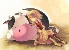Harvest Moon: Tale Of Two Towns, Lilian & Cow :3