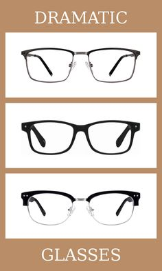 3 Pairs of Glasses for the dramatic body type, one of thirteen Kibbe body types. Dramatics are the most masculine of the body types, on the extreme yang end of the spectrum.  The glasses that suit them the most are minimal, angular, and large.   Learn more about the Kibbe body types at cozyrebekah.com