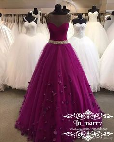 Sexy Crystals Arabic Prom Dresses 2017 A Line Illusion Bodice Cheap Plus Size Purple Tulle 3D Flowers African Formal Evening Party Gowns 2017 Wedding Dresses Princess Wedding Dresses Arabic Wedding Dresses Online with $222.86/Piece on In_marry's Store | DHgate.com