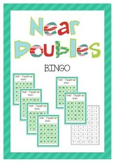 Near Doubles Bingo! - Who thought learning about near doubles could be so much fun! Math Games, Maths, Teaching Resources, Teaching Ideas, Double Game, Bingo Sheets, Naughty Kids, Math Numbers, 2nd Grade Math