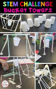 STEM Challenges: This amazing challenge uses one basic material- Straws! Add a few more items and see if your students can build a suspended bucket that will hold weight! Stem Science, Teaching Science, Science Classroom, Life Science, Stem Teaching, Science Labs, Science Space, Math Stem, Mystery Science