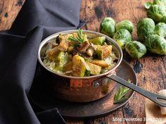 Choux de Bruxelles et tempeh à la moutarde Tempeh, Seitan, Sprouts, Potato Salad, Healthy Recipes, Healthy Food, Potatoes, Diet, Vegetarische Rezepte