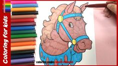 horse coloring pages of animal coloring pages from coloring pages shosh channel