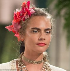 Putting on the ritz: Model-turned-actress Cara Delevingne, 24, returned to the runway for Chanel's2016/2017 Métiers d'Art show at the Ritz Paris on December 2016
