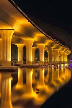 Roosevelt Bridge at Stuart, Florida. Isn't this just beautiful? You should see it in person! Try the Pelican Cafe while visiting. You are under the bridge!