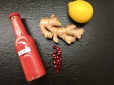 Granatapfel-Ingwer-Shot