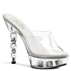 Pleaser DICE6012 Womens Shoes ClearClear Size 5 *** Visit the image link more details.(This is an Amazon affiliate link and I receive a commission for the sales)