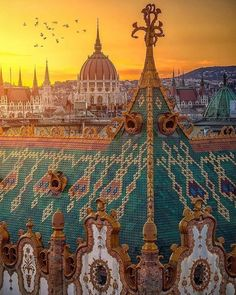 The Artistic Rooftops of Budapest . One of the most fantastic panoramas of Budapest. Places To Travel, Places To See, Wachau Valley, Capital Of Hungary, Budapest Travel, Budapest City, Hungary Travel, Cities In Europe, Europe Europe
