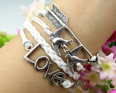 Antique silver arrows bracelet a pair of by lovelybracelet on Etsy