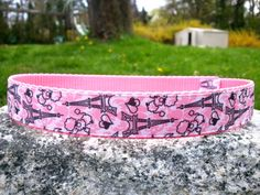 Poodles In Paris1 Inch Width Dog Collar by WillyWoofs on Etsy, $18.00