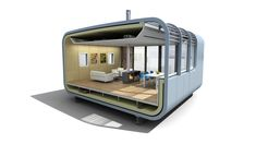 Modular Bathroom is Low on Space but High on Efficiency Container House Design, Small House Design, Prefab Homes, Modular Homes, Low Cost Housing, Portable House, Tiny House Cabin, 3d Home, Floating House