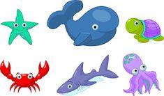 Fundo do Mar - Kit Completo com molduras para convites, rótulos para guloseimas, lembrancinhas e imagens!