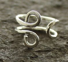 Om hand forged adjustable sterling silver ring  Size by IngoDesign, $37.00