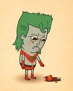 Sad Captain Planet