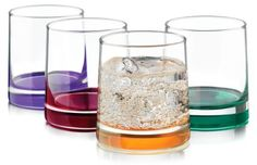 Libbey 4pc. Impressions Colors Rocks Glass Set by Libbey. $11.99. Imported. Dishwasher Safe. Serve cool and refreshing beverages from this 4−piece glass set by Libbey. The Impressions Colors rocks glass set includes 4−12 ounce glasses with a bold pop of color.. Save 40% Off!