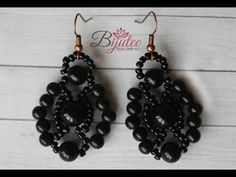 Retro lace beaded earings