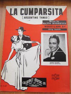 Vintage sheet music1935 La CumparsitaArgentine Tango by lolatrail, $5.00