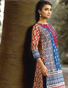 Khaadi Blue Pakistani Cotton Lawn Suit  I15508B