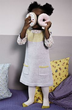 Mini Boden Knit Dress & Pointelle Shirt (Infant)   Nordstrom