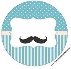 Imprimés Thème Moustache - Bleu : http://fazendoanossafesta.com.br/2014/10/cha-de-bebe-mustache-bigode-kit-completo-com-molduras-para-convites-rotulos-para-guloseimas-lembrancinhas-e-imagens.html/