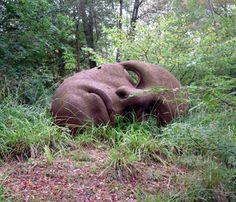 Face sculpture at Hannah Peschar
