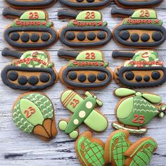 4th Birthday, Cake Designs, Sugar Cookies, Gingerbread, Cake Decorating, Desserts, Food, Military Party, Christmas Cookies