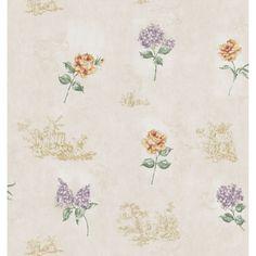 Brewster Vintage Toile Wallpaper
